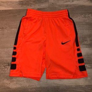 Girls Neon Orange Basketball Shorts